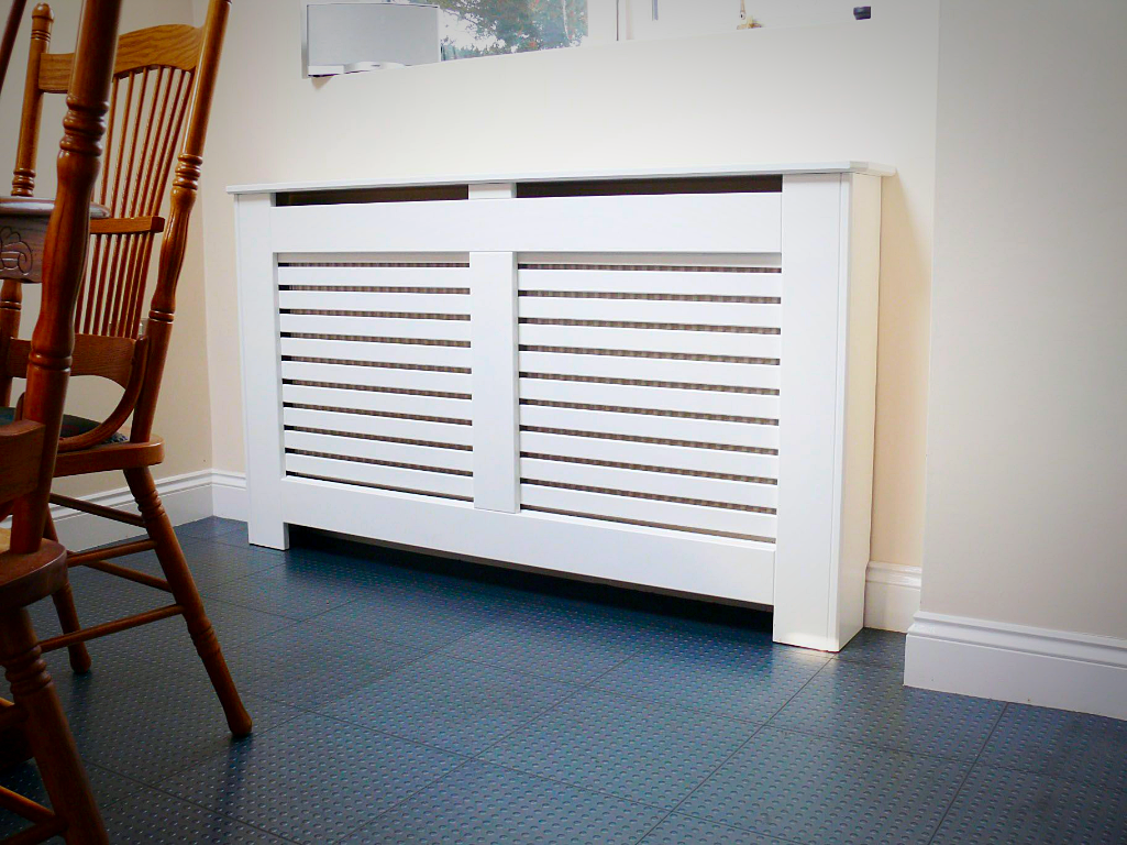 Radiator Cabinets Satin White Finish Sizes Of Mini Small Medium